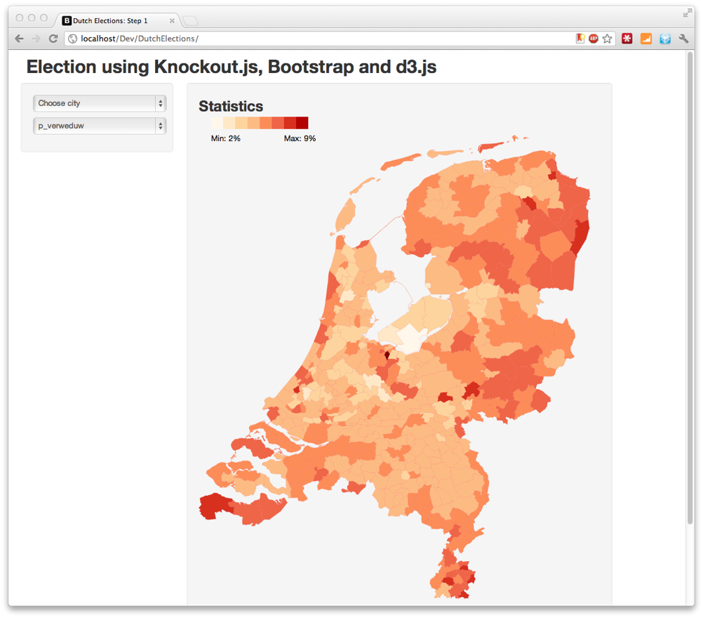 Election Site Part 1 Basics With Knockoutjs Bootstrap And D3js