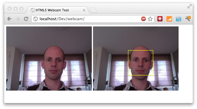 Face Detection using HTML5, Javascript, Webrtc, Websockets, Jetty