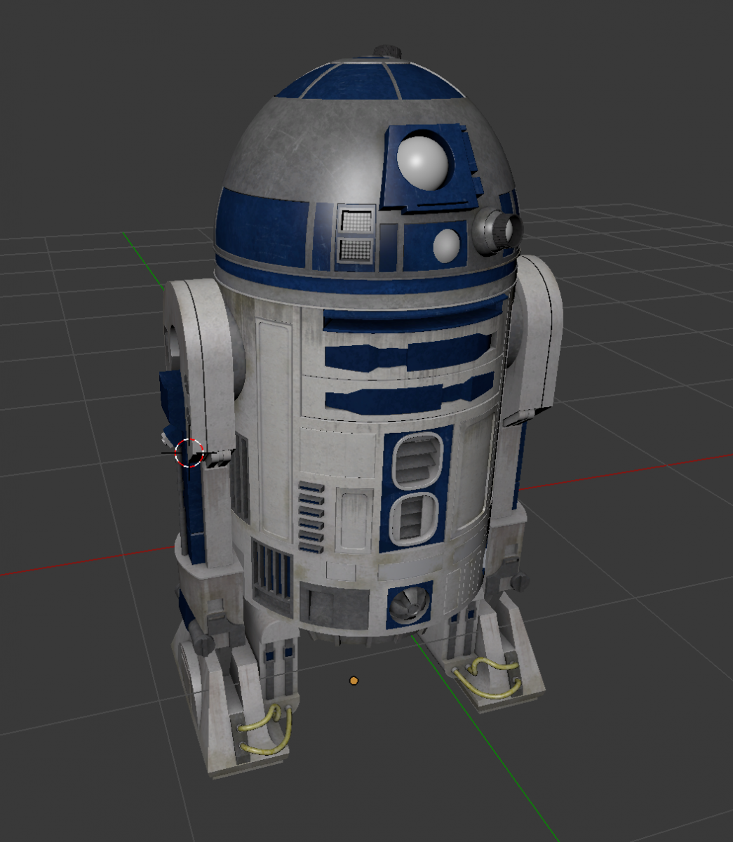 Render 3D Star Wars: The Force Awakens models in Blender and